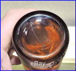 Rare Straight Side Amber Coca Cola Bottle W /arrows Buffalo, N. Y. Mint