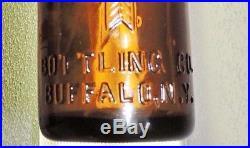 Rare Straight Side Amber Coca Cola Bottle W /arrows Buffalo, N. Y. Nice