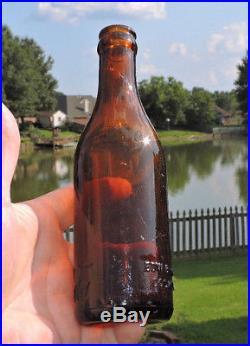 Rare Straight Side Coca Cola Amber Bottle Goshen, New York Porter's R