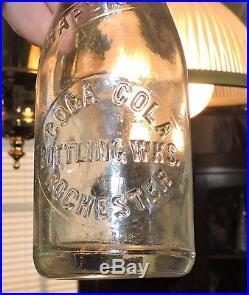 Rare Straight Side Miniature Slug Plate Coca Cola 4 Oz Bottle Rochester, N. Y