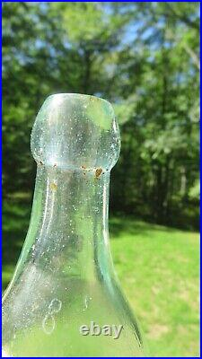 Rare T. J Bierne Bottle Antique Blob Top Port Jervis New York Soda Or Beer