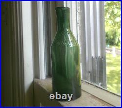 Rare Teal Green Lyon's Powder B&p Ny Bug Poison Roach Killer Bottle 1880 Mint