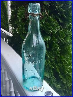 Rare Variant Emb. Corning NY Blobtop Beer T. W. Tanner Bottler Corning NY