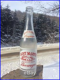Rare Vintage Acl Soda Bottle Aunt Marys Beverages Rochester Ny Neat Cabin Pic