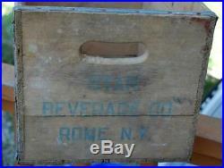 Rare Vintage Star Beverage Co. Rome N. Y. Wood Advertising Soda Bottle Crate Box