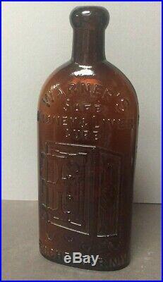 Rare Warner's Safe Kidney & Liver Cure Bottle, Rochester NY Left Hinges