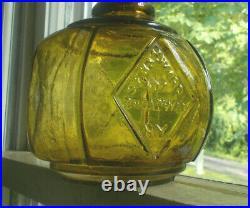 Rare Yellow Hayward's Hand Fire Grnade Pat. 1871 Broadway Ny Sunk Diamond Panels