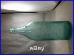 Rare aqua 30 ounce rochester ny straight sided coca cola bottle