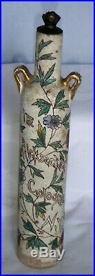 Rickseckers Cologne N Y Antique Porcelain Perfume Bottle