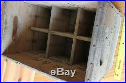 S&H Home Beverage Seltzer Bottle Crate wooden Storage box shipping Vintage NY
