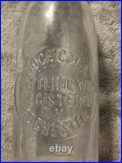 STRAIGHT SIDED COCA-COLA BOTTLING WKS EMBOSSED 7oz SODA BOTTLE ROCHESTER, NY