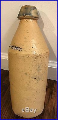 Scarce Chas P Schaefer Reg'std Cobalt STAR Stoneware Beer Bottle Poughkeepsie NY