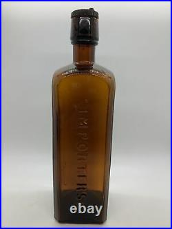 Scarce Jones & Banks Bitters Bottle58 Broad St. New YorkInside ThreadsNICE