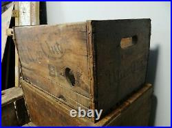 Scarce Utica Club Beer Wood Bottle Case Crate Box West End Brewing Co New York