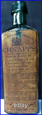 Schiedam Cordial Schnapps T. J. Dunbar New York Boston