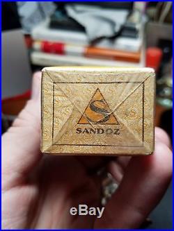Sealed Sandoz Pharmaceutical Company Gynergen Bottle New York, Mint