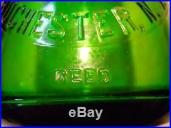 Slug Plate Green Quart Milk Bottle Brighton Place Dairy Rochester NY Sparkling