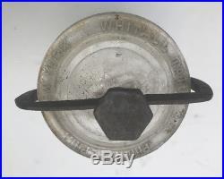 Small Whitall Tatum & Co Philadelphia New York Clear Museum Specimen Jar w Clamp