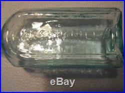 Sparkling Aqua Open Pontil Bristol's Sarsaparilla Buffalo NY Medicine Bottle