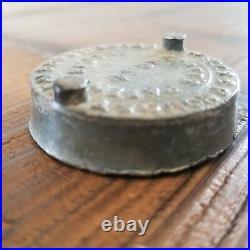 Spratts Patent July 18 1854 Wells Provost Proprietors NY Lugged Jar Lid Cap Lead