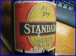 Standard Light Ale 1949 Rochester Ny 1 Qt. Amber Glass No Damage
