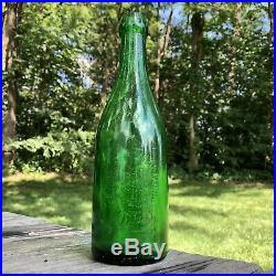 Stanton Brewing Co Troy NY green Blob Top Beer Bottle