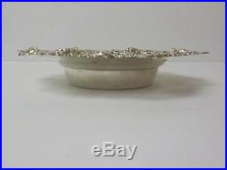 Sterling Silver 7 Bowl / Bottle Coaster #3005, Black, Starr & Frost NY, c. 1890