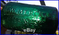 Stunning! G. W. Merchant Chemist Lockport N. Y. Antique Medicine Bottle