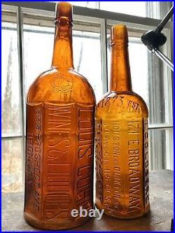 Super Rare Huge Louis Cohn Wines & Liquors Bronx New York Whiskey Bottle Jewish