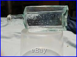 Super Rare Open Pontil G. A. Newman Druggist NY Medicine Bottle