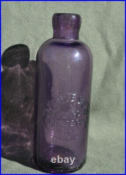 Super Rare Prince Bay purple bottle Staten Is. New York beer soda bottle
