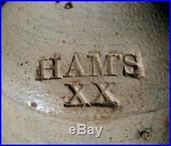 Sweet Sm Sized Stoneware Ham's XX Beer c1870 NY Pint