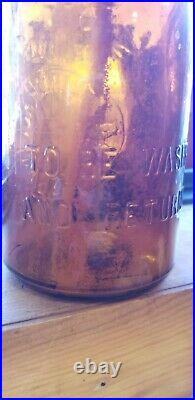 TREQ Tillinghast Dairy Farm Amber Glass Milk Bottle Princes Bay Staten Island NY