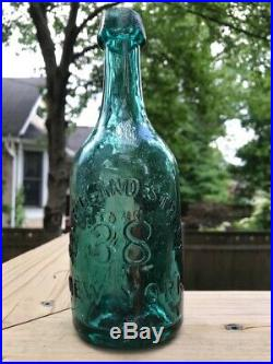 TWEDDLE'S SODA OR MINERAL WATER-NEW YORK. Teal, pontiled bottle from N. Y