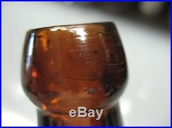 Tafton Vintage Co. Rochester N. Y. Amber Blob Top Beer / Soda Bottle