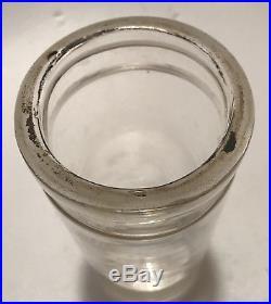 Tall Whitall Tatum & Co Philadelphia New York Clear Museum Specimen Jar w Clamp