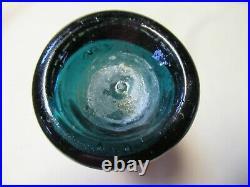 Teal Green Tweddle's 38 Courtland St. Iron Pontil Blob Top NY City Soda Bottle