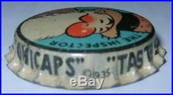 The Inspector Goldenrod Comicaps Beer Bottle Cap 1935 Brooklyn, Ny Unused Cork