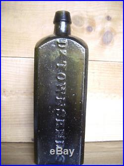 Top Shelf Dr Townsend's Sarsaparilla Bitters Bottle Albany Ny Pontil Bottle