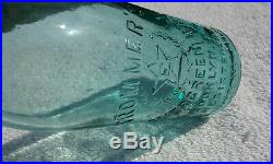 Tumbled 1800's Antique Trommer's Evergreen Bry, Brooklyn, N. Y. Bottle! Super