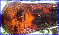 Tumbled 1800's Huge Antique 1/2 Gallon S. Rosenthal & Co. Ny Whiskey Bottle