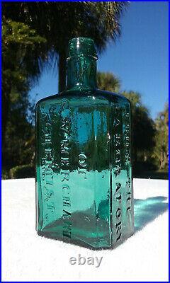 Tumbled 1860's G. W. Merchant Chemist, Lockport, N. Y. Antique Bottle! Stunning
