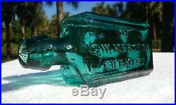 Tumbled 1860's G. W. Merchant Chemist Lockport N. Y. Antique Medicine Bottle