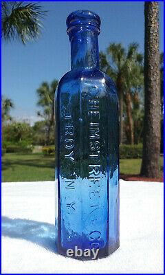 Tumbled 1870's C. Heimstreet & Co, Troy, N. Y. Antique Medicine Bottle