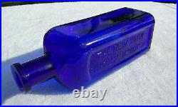Tumbled 1890's Antique Cobalt Blue New York Pharmacal Association Bottle! 8