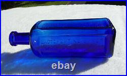Tumbled 1890's Antique Cobalt New York Pharmacal Assoc. Lactopeptine Bottle
