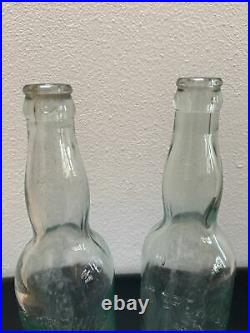 Two Antique Embossed Mercury Quandt Brewing Co. Troy NY Bottles Old & Rare