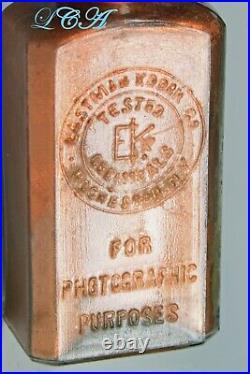 UNIQUE antique EASTMAN KODAK bottle TONING SOLUTION Rochester N Y PHOTOGRAPHY