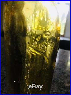 Ultra rare yellow. Warners Safe Kidney & Liver Cure Bottle Rochester NY RARE