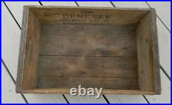 VINTAGE GENESEE BEER 12oz. STINIE BOTTLE CRATE WOOD BOX SIGN ROCHESTER NEW YORK